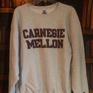 Carnegie Mellon XL Gray Champion Sweat Shirt